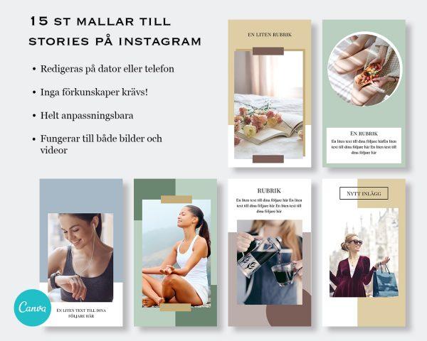 Mallar till stories - Blogger 3