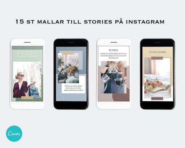 Mallar till stories - Blogger 5