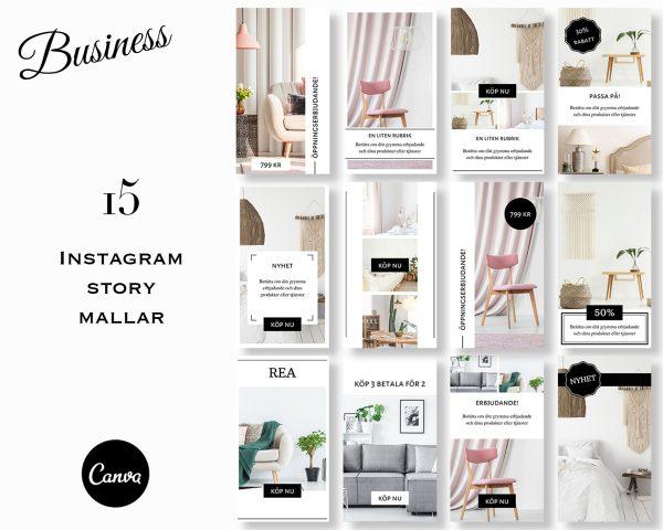 Mallar till stories - Business SV