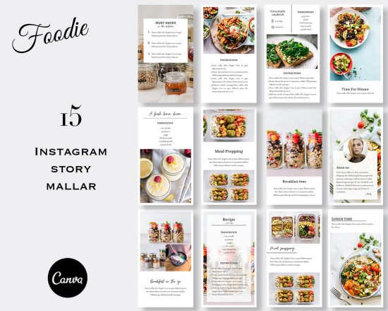 Mallar till stories - Foodie 6 SV