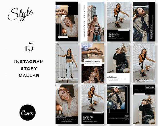 Mallar till stories - Style Canva